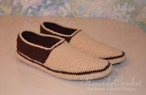 handmade men's crochet slippers, knitted socks, wool beige boots, house shoes