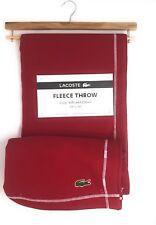 Lacoste Red 50X70 Fleece Throw Blanket Cozy Warm