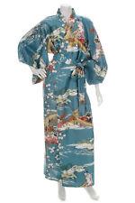 Geisha Long Blue Japanese Kimono
