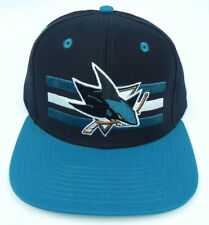 SAN JOSE SHARKS NHL VINTAGE SNAPBACK RETRO 2-TONE CAP HAT NEW! BAR