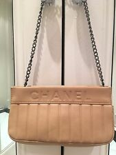 Chanel Chevron Beige Borsa Catena