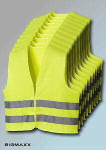 10 Stück teXXor Warnweste Sicherheitswarnweste Schutz gem EN 471 gelb leuchtgelb