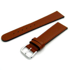 Tough Replacement Leather Watch Strap Band 20mm Tan Saddle Grain s