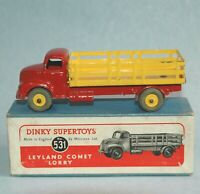 DINKY Meccano England 1949 LEYLAND COMET LORRY #531 red yellow ORIGINAL BOXED