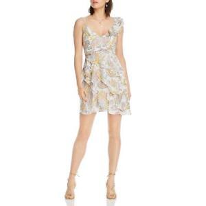 LINI Womens Naomi Ruffled V Neck Party Mini Dress BHFO 2369