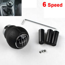 UK Universal 6-Speed Car Leather Manual Gear Shift Knob Shifter Stick Lever
