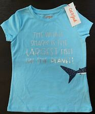 Cat & Jack The Whale Shark Is The Largest Fish Turquoise Kids Shirt Size M (7-8)