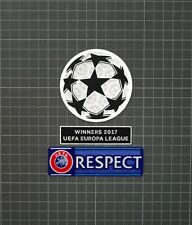 UEFA Champions League & RESPECT Sleeve Patches Europa League Winners 2017
