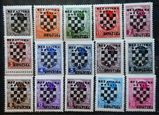 CROATIA - KING ALEXANDER OVERPRINTED YU STAMPS 1941 MI: 9 - 23 MNH