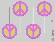Peace Signs Chocolate Lollipop Candy Mold CK #9231 - NEW