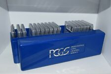 pcgs blue plastic coin storage box case holder holds 20 pcgs graded coins used