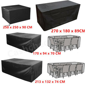Large Size Waterproof Patio Furniture Covers for Outdoor Garden Rattan Table UK