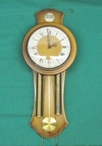 Rare Vintage Tempus Fugit HAID Wall Clock Franz Hermle Movement Made In Germany