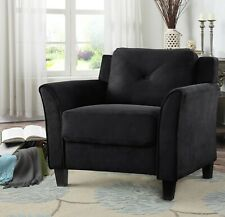 Lifestyle Solutions Taryn Rolled Arm Chair Black Sofa Room Home Hall Livingroom