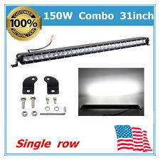 31''inch 150W LED Combo Light Bar Single row 12V 24V Tundra Ford Chevrolet 25/48