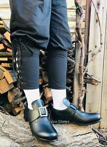 Black English Colonial George Washington Thomas Jefferson Mens Costume Shoes