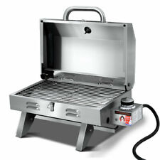 Grillz Portable Gas BBQ Grill Heater - Stainless Steel