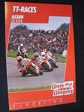 Flyer NS (Nederlandse Spoorwegen) TT Motorraces Assen 25 juni 1988  (TTC)