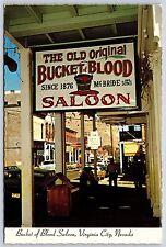 Bucket of Blood Saloon in Virginia City, NEVADA McBride Continental Postcard New