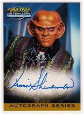 STAR TREK DS9 MFTF ARMIN SHIMERMAN AS QUARK A2 AUTOGRAPHED CARD SKYBOX 1999