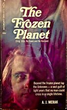 The Frozen Planet by A.J. Merak 1969 Belmont Books 1st ed paperback-sci-fi rare