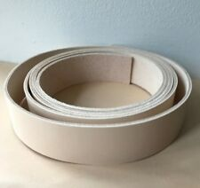 "100 cm 40"" long Natural Veg Tan Leather Strap Belt Blank Strip 2-2.5mm thick"