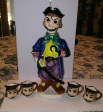 New listing Vintage Ceramic Pirate Liquor Decanter Set with Cups Original from Japan