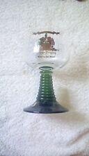 WERNER JUNGLING MOSEL ORNATE GLASS GREEN STEM 13CM TALL