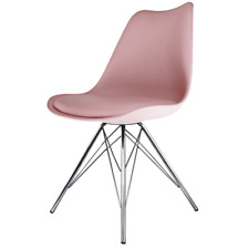 Eiffel Inspired Blush Pink Plastic Dining Chair - Various Legs Bases Available
