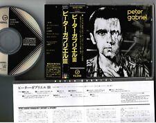 PETER GABRIEL III JAPAN CD 32VD-1081 1A1 w/OBI 87 1st issue BLACK TRIANGLE LABEL