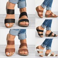 Womens Platform Wedge High Heels Sandals Ladies Summer Beach Slip on Shoes Size