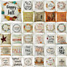 Happy Thanksgiving Pillow Case Home Car Decor Square Cushion Pillow Cover NEW