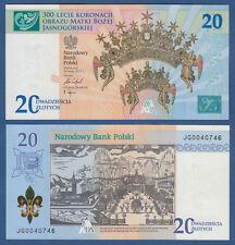 POLEN / POLAND 20 Zlotych 2017 in Folder  UNC  P. NEW