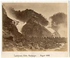 Knudsen knud, Norvège, Norway, Hardanger, Laatefossen Odde  Vintage albumen prin