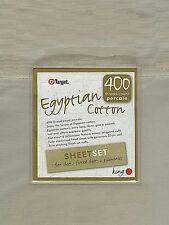 400TC LINEN Egyptian Cotton Sheet Set NEW King RRP$199