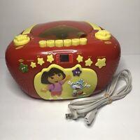 Dora The Explorer DTE288 Portable CD Cassette Player AM/FM Radio Stereo 2005