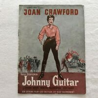 Johnny Guitar Joan Crawford, Sterling Hayden Vintage 1954 Danish Movie Program