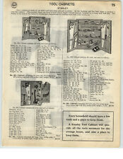 1926 PAPER AD Stanley Tool Cabinets Kennedy Chests Carpenter Garage Mechanic
