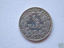 """½ Mark 1918 F /Deutschland-Germany Kaiserreich """"Goldmark""""/ Silver"""