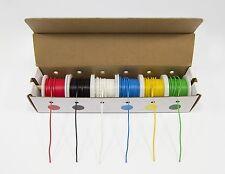 6 Colors Hook Up Wire Kit Stranded Spools Electrical Work 22 Gauge Set Pack