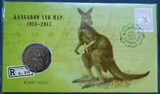 2013 50c Kangaroo and Map Melbourne Stamp Show Day 1 Limited Edition PNC 7500