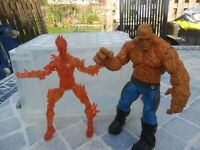 DC Comics Marvel Fantastic Four - Human Torcuh & The Thing - Action Figures