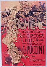 Framed Art Poster of the Opera LA BOHEME by Puccini Liberty Poster Collection