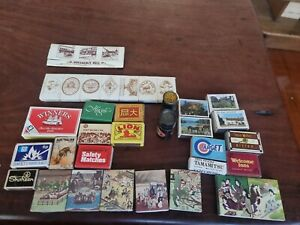 Bulk Lot Of Vintage Matchboxes, Matchbook Covers and Matches