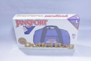 Vintage Jansport Large Duffle Bag Shoulder Strap Made in USA Blue