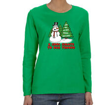 Womens Snowman Salute Our Troops Army Military Christmas Long Sleeve T-Shirt