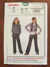 BURDA PATTERN - 9561 GIRL'S FITTED PANTS SLIGHTLY FLARED LEG SIZE 6 - 11 UNCUT