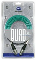 Blue Quad 20 Foot Microphone Cable for microphones Kiwi Cactus Bottle mics NEW