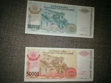 More details for kroatien / croatia  hrvatska srpska krajina 2pcs dinara 1993 lot knin