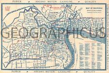 1920s NAVY Y.M.C.A. CITY MAP OR PLAN OF SHANGHAI, CHINA